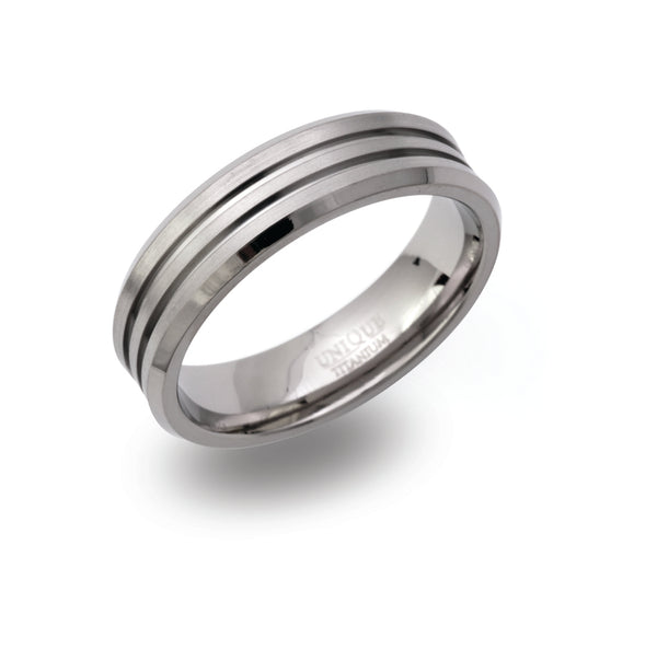 Unique & Co Titanium Ring TR-100 - Hamilton & Lewis Jewellery
