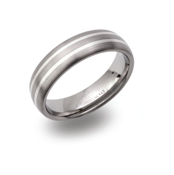 Unique & Co Titanium Ring TR-102 - Hamilton & Lewis Jewellery