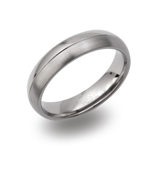 Unique & Co Titanium Ring TR-104 - Hamilton & Lewis Jewellery