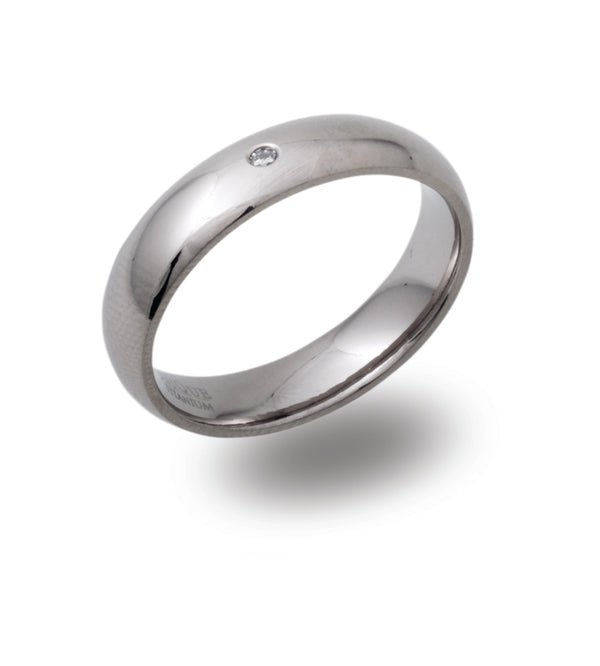 Unique & Co Titanium Ring TR-107 - Hamilton & Lewis Jewellery