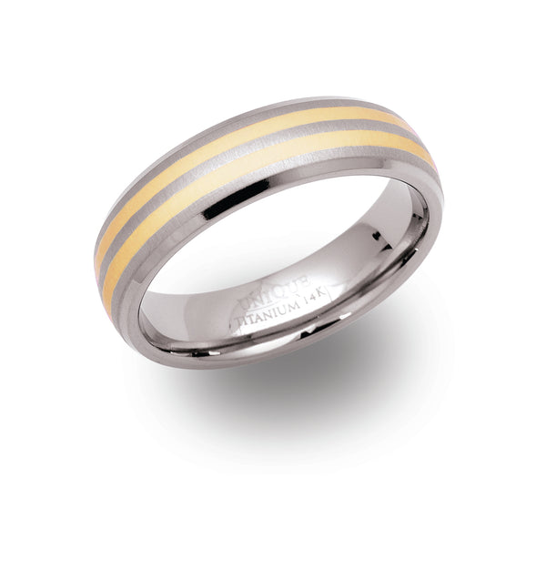 Unique & Co Titanium/Gold Ring TR11