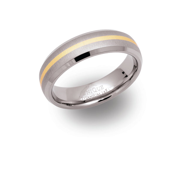 Unique & Co Titanium/Gold Ring TR12