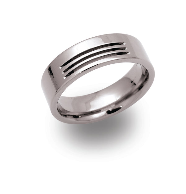 Unique & Co Titanium Ring TR-18 - Hamilton & Lewis Jewellery