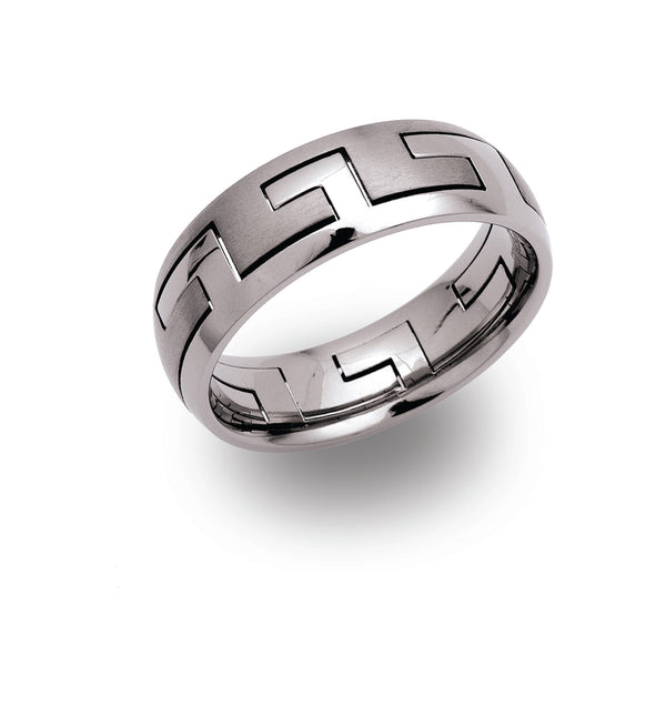 Unique & Co Titanium Ring TR-19 - Hamilton & Lewis Jewellery