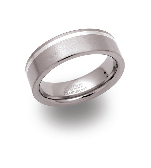 Unique & Co Titanium Ring TR-23 - Hamilton & Lewis Jewellery