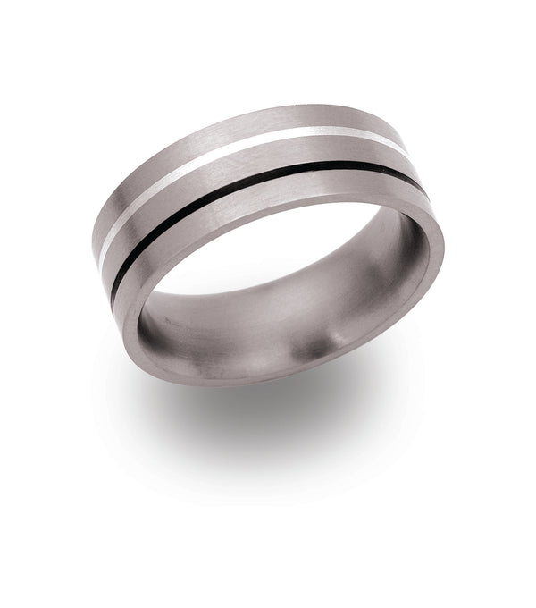 Unique & Co Titanium Ring TR-25 - Hamilton & Lewis Jewellery