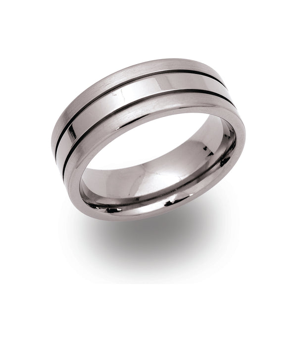 Unique & Co Titanium Ring TR-31 - Hamilton & Lewis Jewellery