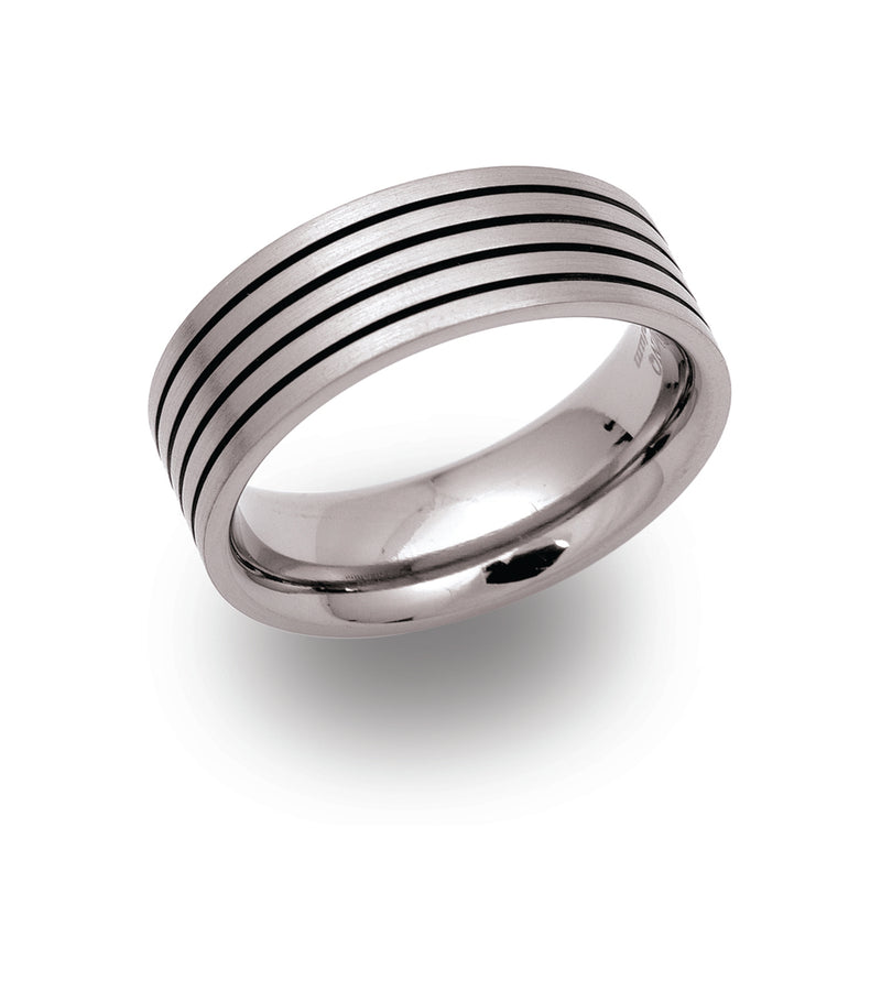 Unique & Co Titanium Ring TR-34 - Hamilton & Lewis Jewellery