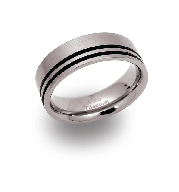Unique & Co Titanium Ring TR-38 - Hamilton & Lewis Jewellery