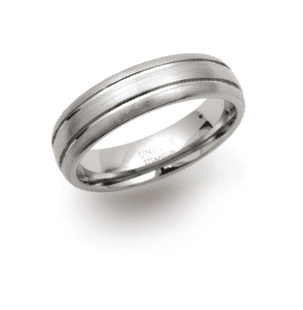 Unique & Co Titanium Ring TR-3 - Hamilton & Lewis Jewellery