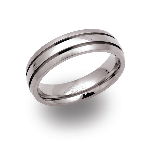 Unique & Co Titanium Ring TR-42 - Hamilton & Lewis Jewellery