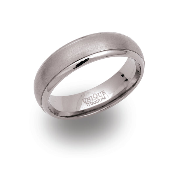 Unique & Co Titanium Ring TR-4 - Hamilton & Lewis Jewellery