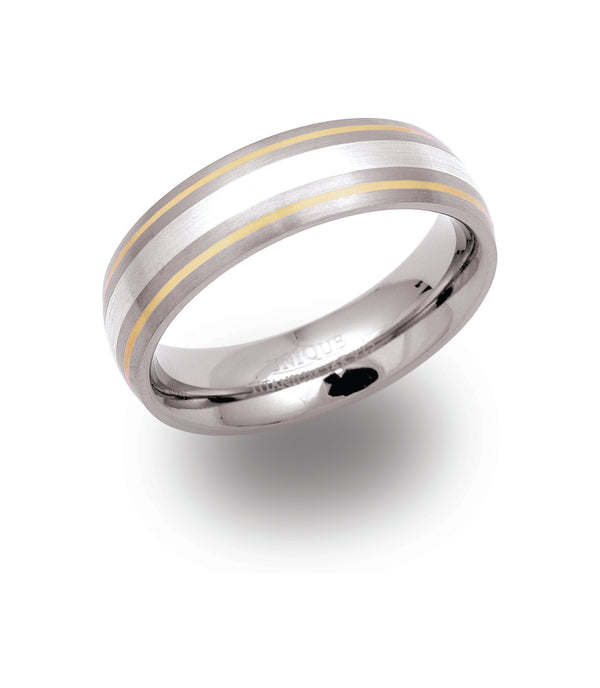 Unique & Co Titanium/Gold Ring TR50