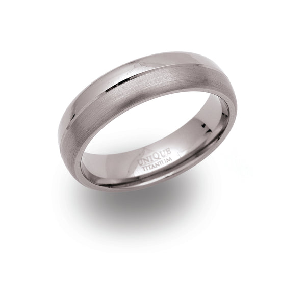 Unique & Co Titanium Ring TR-5 - Hamilton & Lewis Jewellery