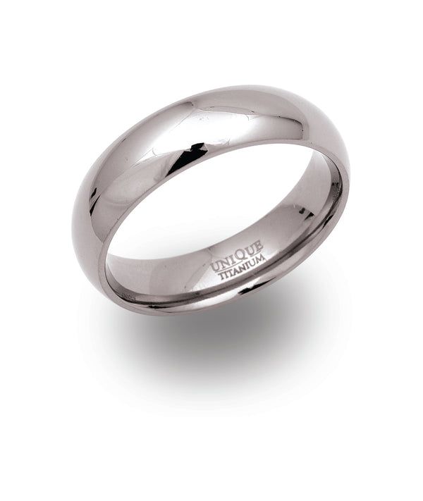 Unique & Co Titanium Ring TR-64 - Hamilton & Lewis Jewellery