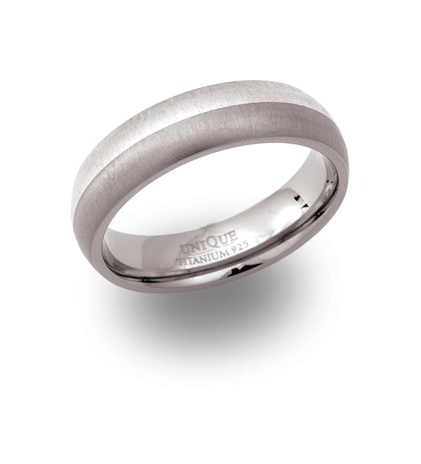 Unique & Co Titanium Ring TR-7 - Hamilton & Lewis Jewellery