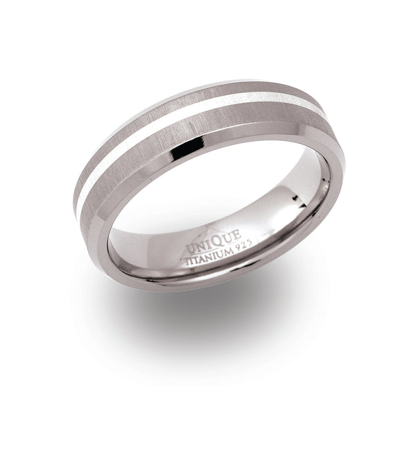 Unique & Co Titanium Ring TR-8 - Hamilton & Lewis Jewellery