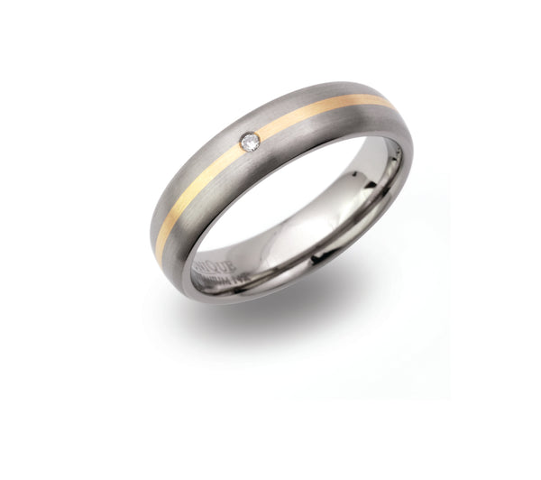 Unique & Co Titanium/Gold Ring TR93