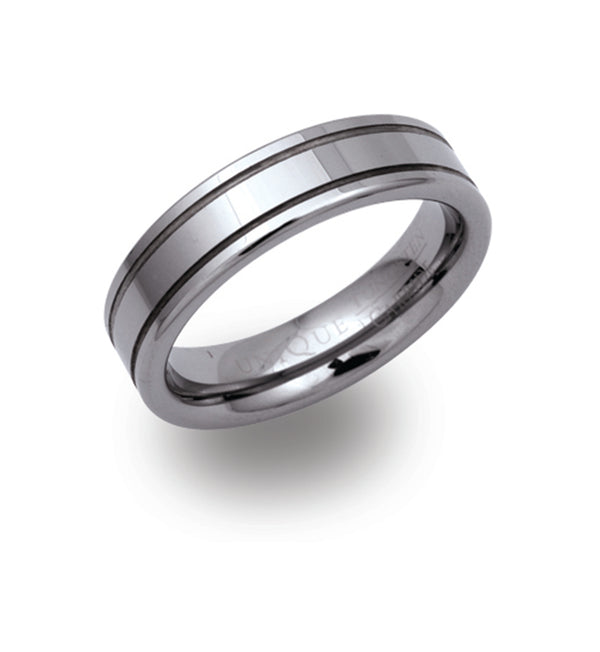 Unique & Co Tungsten Ring TUR-2 - Hamilton & Lewis Jewellery