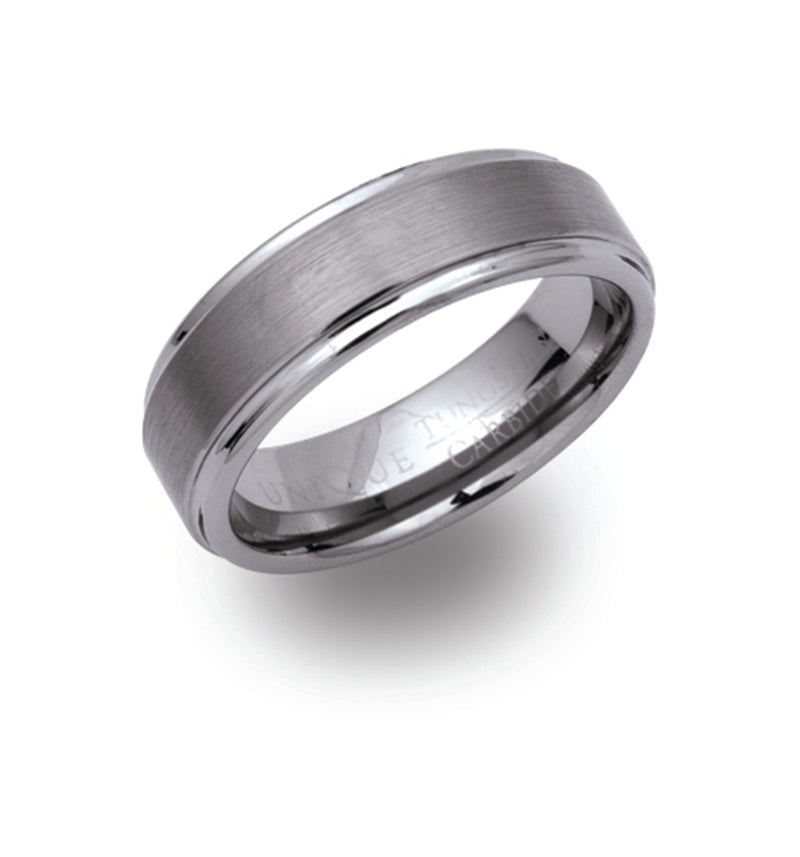 Unique & Co Tungsten Ring TUR-3 - Hamilton & Lewis Jewellery