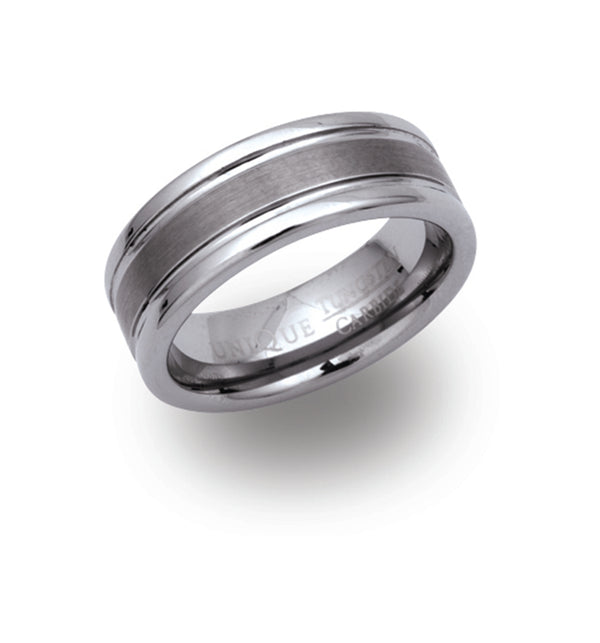 Unique & Co Tungsten Ring TUR-7 - Hamilton & Lewis Jewellery