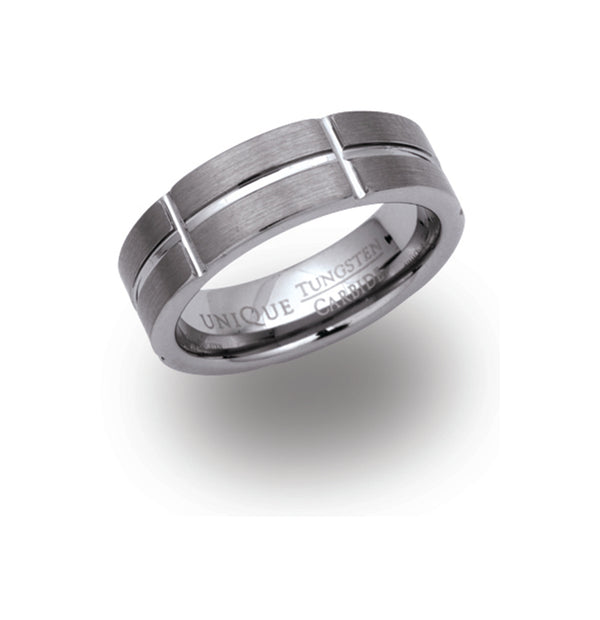 Unique & Co Tungsten Ring TUR-10 - Hamilton & Lewis Jewellery
