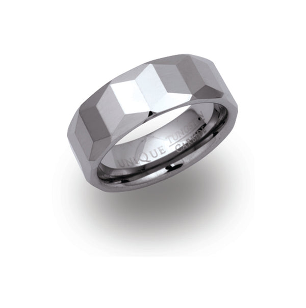 Unique & Co Tungsten Ring TUR-11 - Hamilton & Lewis Jewellery
