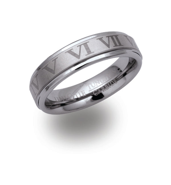 Unique & Co Tungsten Ring TUR-24 - Hamilton & Lewis Jewellery