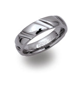 Unique & Co Tungsten Ring TUR-25 - Hamilton & Lewis Jewellery