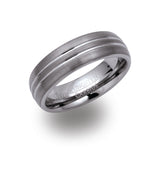 Unique & Co Tungsten Ring TUR-27 - Hamilton & Lewis Jewellery