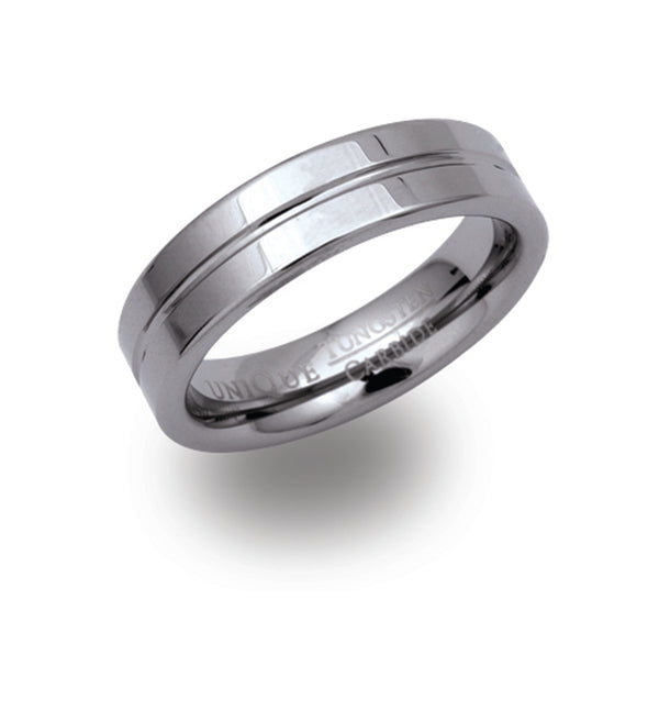 Unique & Co Tungsten Ring TUR-28 - Hamilton & Lewis Jewellery