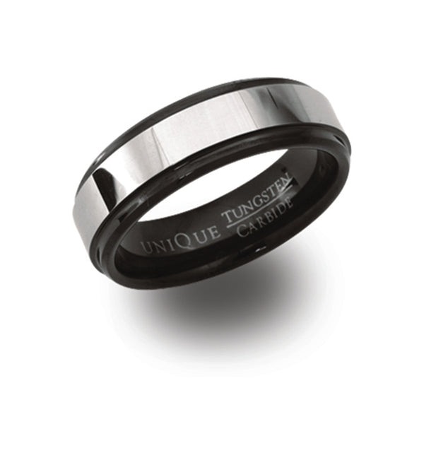 Unique & Co Tungsten Ring TUR-37 - Hamilton & Lewis Jewellery