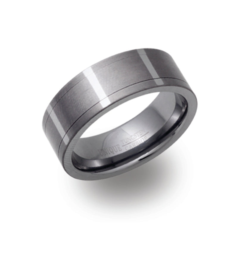 Unique & Co Tungsten Ring TUR-42 - Hamilton & Lewis Jewellery