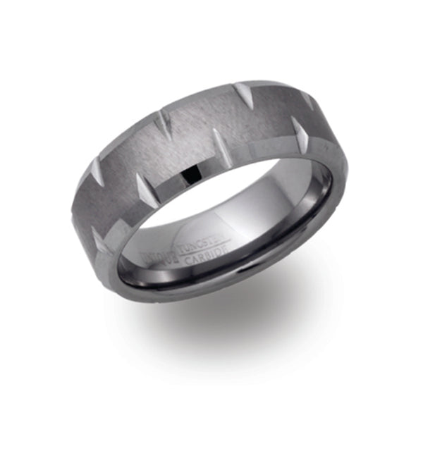 Unique & Co Tungsten Ring TUR-48 - Hamilton & Lewis Jewellery