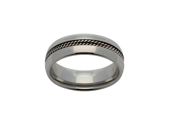 Unique & Co Tungsten Ring TUR-50 - Hamilton & Lewis Jewellery