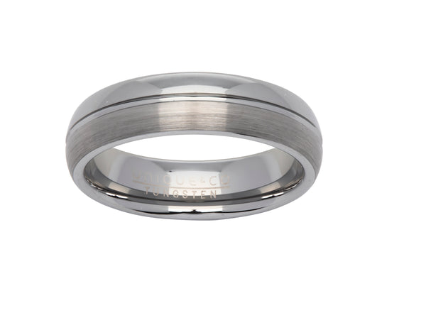 Unique & Co Tungsten Ring TUR-65 - Hamilton & Lewis Jewellery