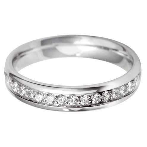 4mm Grain Set Wedding Band - Hamilton & Lewis Jewellery