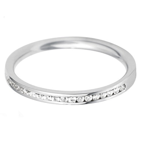 2mm Channel Set Wedding Band - Hamilton & Lewis Jewellery