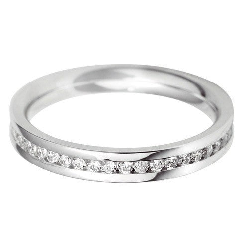3mm Channel Set Wedding Band - Hamilton & Lewis Jewellery