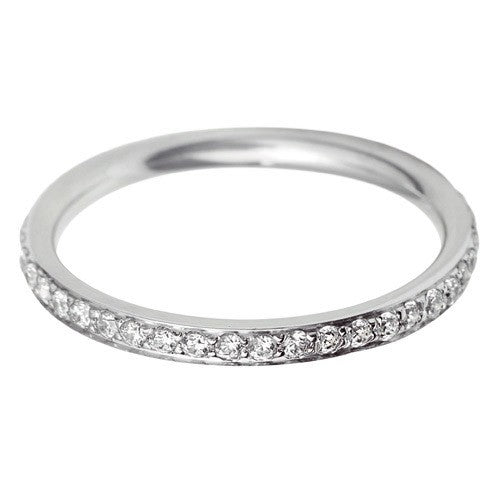 2mm Flat Court Grain Set Wedding Ring - Hamilton & Lewis Jewellery