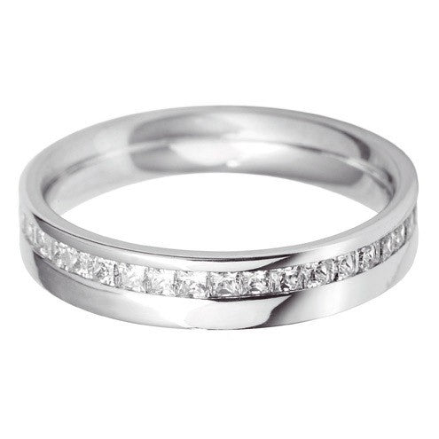 4mm Flat Court Offset Wedding Ring - Hamilton & Lewis Jewellery
