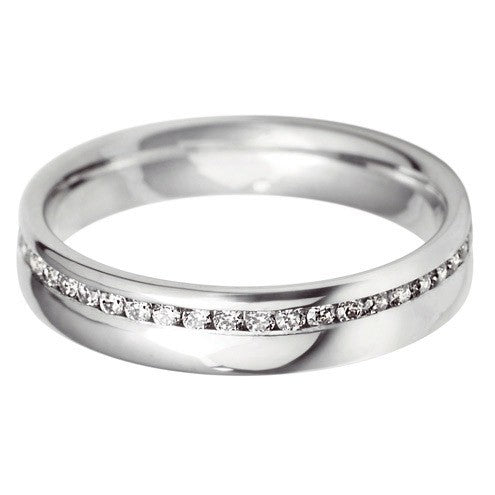 4mm Court Offset Wedding Ring - Hamilton & Lewis Jewellery