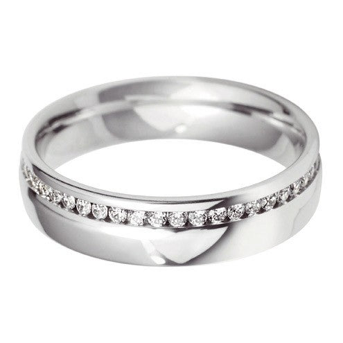 5mm Court Offset Wedding Ring - Hamilton & Lewis Jewellery