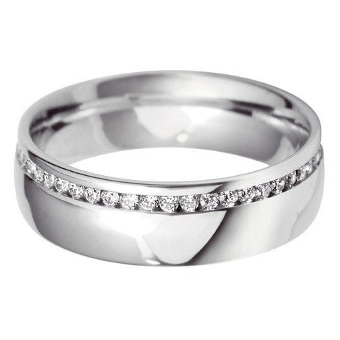 6mm Court Offset Wedding Ring - Hamilton & Lewis Jewellery