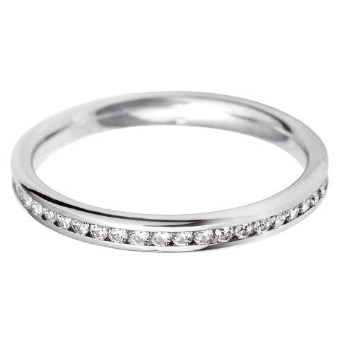 2.5mm Channel Set Wedding Band - Hamilton & Lewis Jewellery