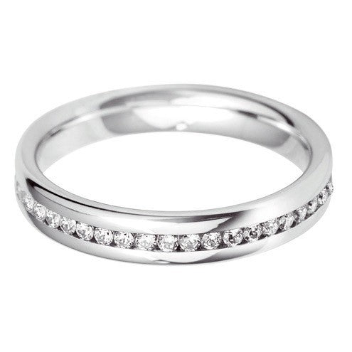 3.5mm Channel Set Wedding Band - Hamilton & Lewis Jewellery