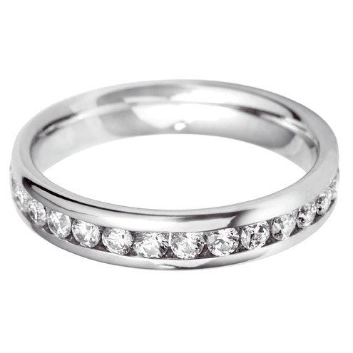 4mm Channel Set Wedding Band - Hamilton & Lewis Jewellery