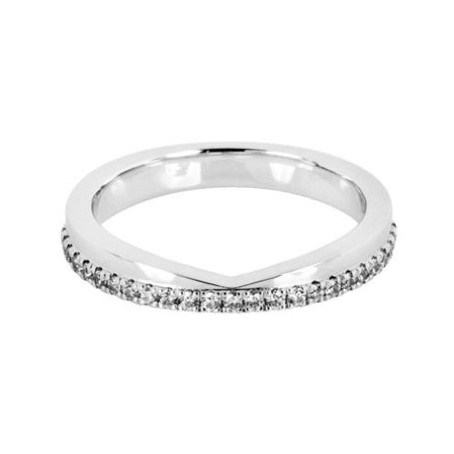 'V' Cut Shaped Wedding Ring - Hamilton & Lewis Jewellery