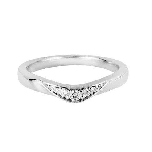 Wave shaped wedding ring - Hamilton & Lewis Wedding Jewellery