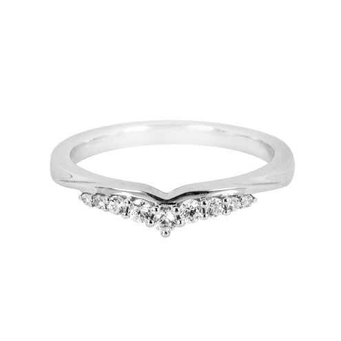 Tiara inspired shaped wedding ring (0.16ct) - Hamilton & Lewis Jewellery